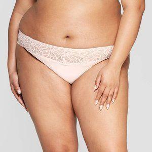Auden Intimates & Sleepwear - auden Soft Petal Pink Micro Thong Lace